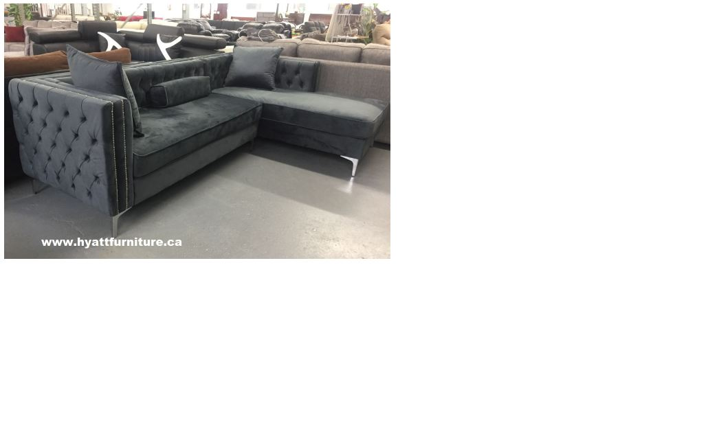 Modern Velvet fabric Tufted Sectional Sofa